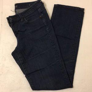 Ann Taylor modern straight jeans, dark blue.